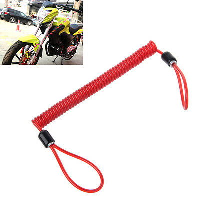 135cm Alarm Disc Lock Security Spring Reminder Cable Motorcycle Bike Scooter Red
