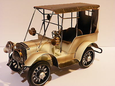 Car Metal Art Tin Vintage Retro Handmade Collectible Antique Toy Old