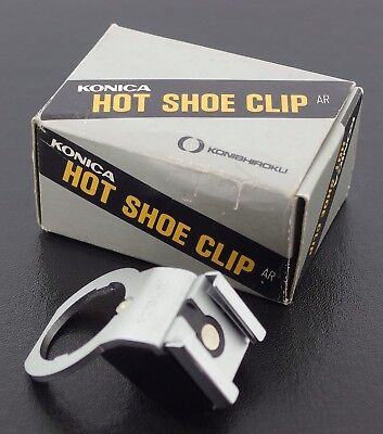 Konica AR Genuine Hot Shoe Clip, Boxed with Instructions