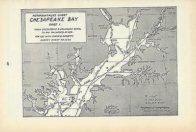 1930's Nautical Charts Chesapeake Bay Virginia Maryland Motor Boatmen's Boating