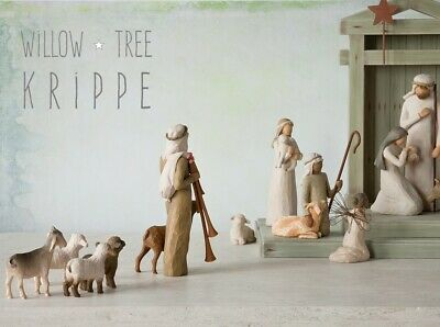 Willow Tree Krippe • Weihnachtskrippe • Nativity, Ox and Goat, Tree, Creche.....