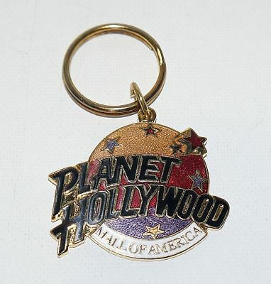 Vintage Planet Hollywood Mall of American Enamel Cloisonne Key Chain Ring