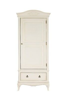 Bordeaux Antique White Mahogany French Style Shabby Chic 1 Door Wardrobe