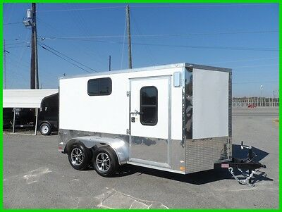 7x12 2' v 14' 3 windows Motorcycle pkg cargo enclosed cargo toy hauler trailer