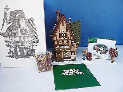 Retired Department 56 Dicken's Village~ Melancholy Tavern & Ale Mates 2 Pc Mib