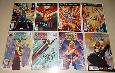 Captain Marvel 1 6 7 8 Civil War Fazekas Carol Corps 1-4 Complete Set Danvers NM
