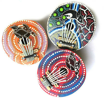 Kalimba 7 Keys Thumb Piano For Kids Tunable Coconut Shell Painted Handmade