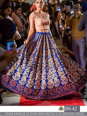 Bollywood Designer Party Wear Ethnic Silk Net Lehenga Choli Saree Wedding Sari