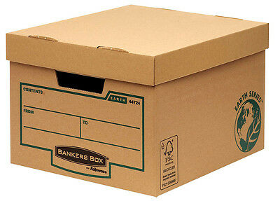Fellowes Archivboxen Bankers Box® Earth Series Budget Box für Ordner Dokumente