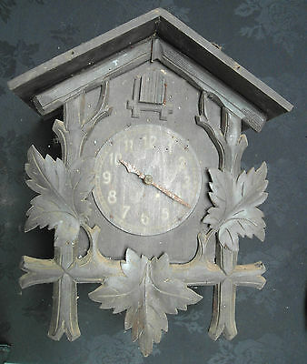 Antique German Black Forest Cuckoo Clock For Restoration