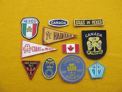 "Vintage Girl Guides Of Canada - Collection ""a"" Of Eleven Patches."