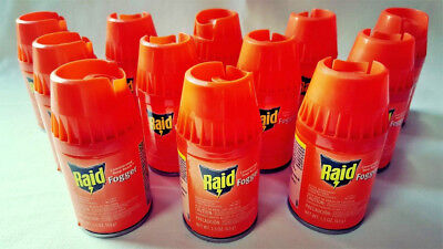 9 Raid Concentrated DEEP REACH Fogger CANS Kills Ants Roaches Spiders Wasp 3 Box
