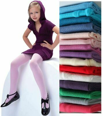 Girls Ribbed Tights Soft Warm Natural Fibres Age 2-11 Knittex AGATKA New