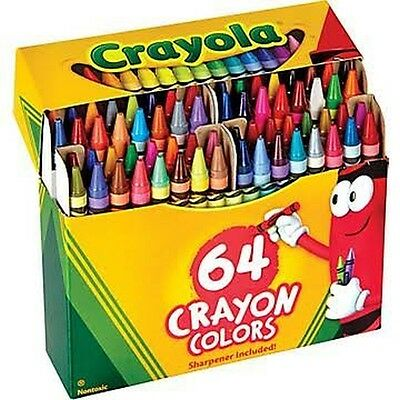 Crayola Crayons Non-Washable 3-5/8 In. X 5/16 In. 64 Colors