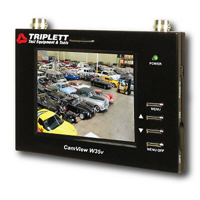 "Triplett CamView W35V Wrist Mounted Test Monitor 3.5"" LED for Security Cameras"