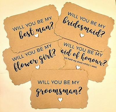 Rustic Will You Be My Bridesmaid Cards, A6 Bridesmaid Cards, Rustic Wedding