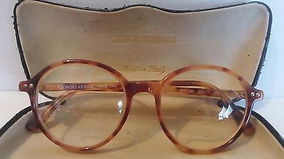 Vintage Authentic GIORGIO ARMANI 371 197 Tortoise 48mm Eyeglasses Italy & case