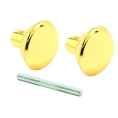 Prime-Line Products E 2297 Solid Brass Vintage Style Door Knobs 2-3/16 in. Ou...