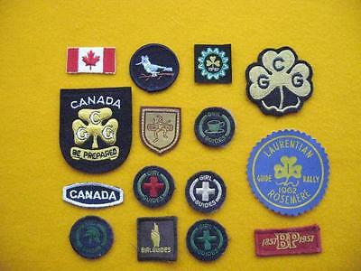 "Vintage Girl Guides Of Canada - Collection ""b"" Of Fifteen Patches."