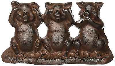 Hear No Evil See No Evil Speak No Evil Cast Iron Pigs Door Stop