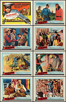 THE LONE RANGER CLAYTON MOORE LOST CITY OF GOLD Set Of 8 11x14 LC Prints 1958