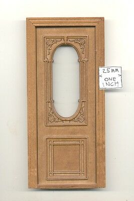 Door by Bespaq 815NWN Carved Exterior -  wooden dollhouse miniature 1:12 scale