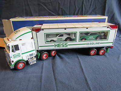 1997 Hess Toy Truck and  Racers Collectible in Original Box Great Condition