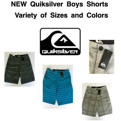 d988759c77 NEW QUIKSILVER Boy's Hybrid Flat Front Shorts! Variety of Sizes and Colors!