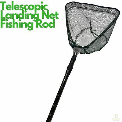 Telescopic Fishing Landing Net Rod Adjustable Foldable Pole Fish Catch & Release