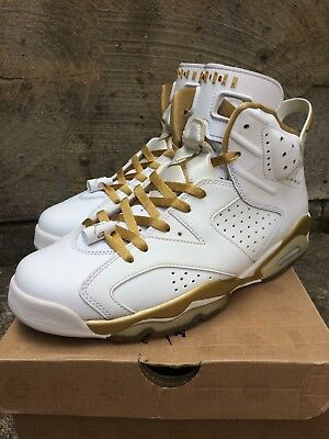 "online store 8f2a9 9efdb Nike Air Jordan 6 VI Retro ""Golden Moment Pack"" GMP Gold Red White size"