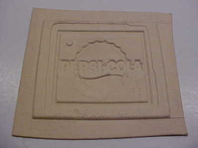 Vintage PEPSI COLLA Electrotype Printing Sign Mold New York City Advertising