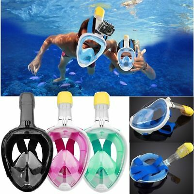 Breath Full Face ️Snorkeling Mask Diving Snorkel Scuba for GoPro Swimming Tools