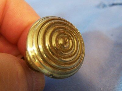 "7 Antique Vintage SOLID BRASS Florettes Knobs Drawer Hardware Pulls 1"" ITALY"