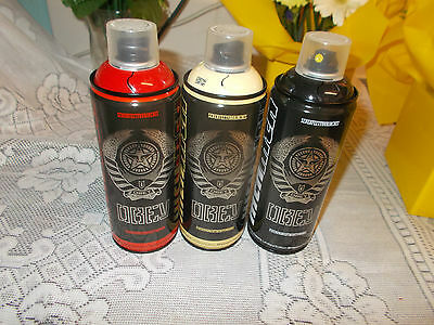 Rare - Set *highly Collectible* Mtn Limited Edition Spray Cans (Shepard Fairey )