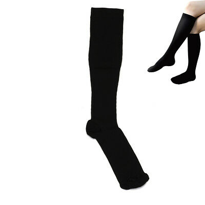 Unisex Black Anti-Fatigue Swelling Relief Compression Socks Miracle Stocking