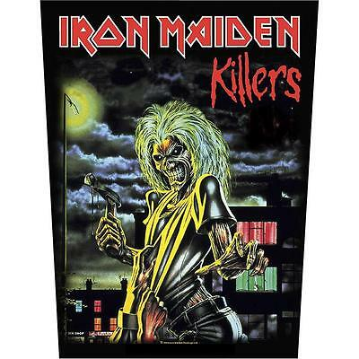 Iron Maiden Killers Back Patch XLG free worldwide shipping