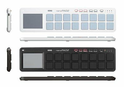 Korg Nano Pad 2 USB Midi Controller Slim-Line White Black import Japan free post