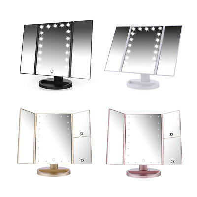 Easehold Cosmetic Makeup Table Stand Portable Mirror 2/3/5 Magnifying LED Lights