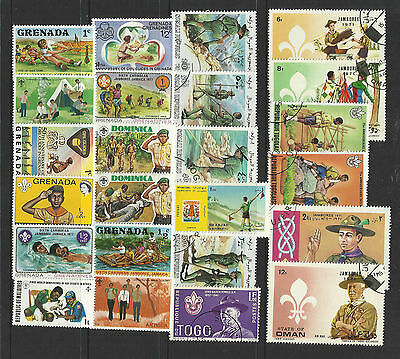 BOY SCOUTS Collection Packet 25 Different WORLD Stamps