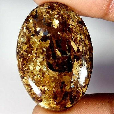 43.25Cts Designer A+ 100% Natural Bronzaite Oval Cab Loose Gemstone