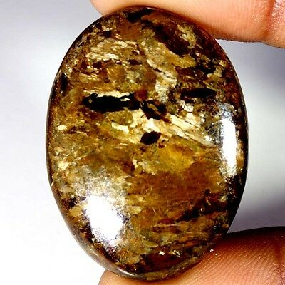 59.70Cts Designer A+ 100% Natural Bronzaite Oval Cab Loose Gemstone