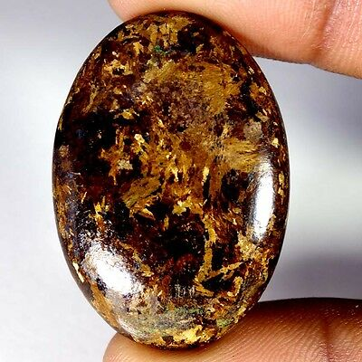 52.85Cts Designer A+ 100% Natural Bronzaite Oval Cab Loose Gemstone
