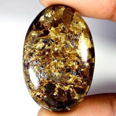 49.50Cts Designer A+ 100% Natural Bronzaite Oval Cab Loose Gemstone