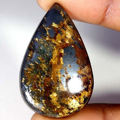 48.85Cts Designer A+ 100% Natural Bronzaite Pear Cab Loose Gemstone