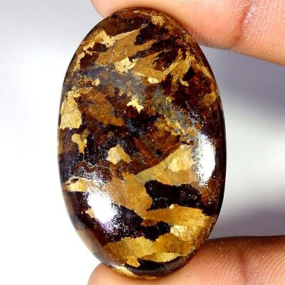 76.65Cts Designer A+ 100% Natural Bronzaite Oval Cab Loose Gemstone