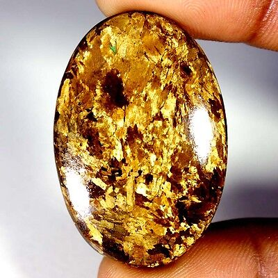 47.20Cts Designer A+ 100% Natural Bronzaite Oval Cab Loose Gemstone