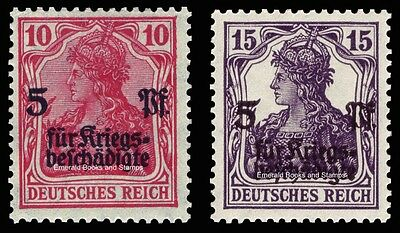 EBS Germany 1919 Germania War Wounded charity overprint MNH Michel 105-106**