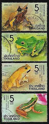 THAILAND 2014 FROGS Set 4v USED (No.2)