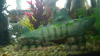 SUBMARINE BUBBLER ORNAMENT DECORATION AQUARIUM FISH TANK tropical marine
