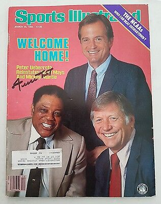 Signed Willie Mays Vintage sports illustrated magazine with Mays Say Hey holo